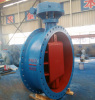 Large dimension EPDM sealing flange type pipenet butterfly valve