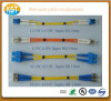 big supplier fiber optic patch cord/cable single/multimode duplex yellow and orange sheath jacket fiber jumper pigtail