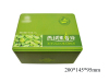 China environmental protection green nut packing tin box manufacturer