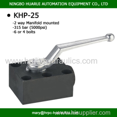 3-way ball valve for manifold mounting dn 25 carbon steel