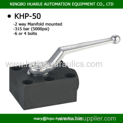 2-way high pressure ball valve for manifold mounting DN50 315bar