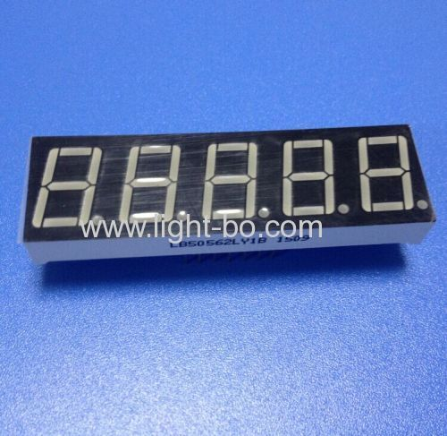 Ultra yellow 0.56 inch 5 digit 7 segment led display common cathode for weighing scale