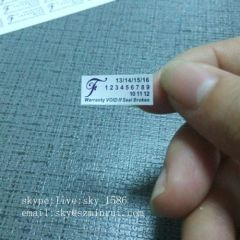 Can Not Peel Off Labels Custom Destructible Vinyl Anti Theft Customized Prnting Label Sticker