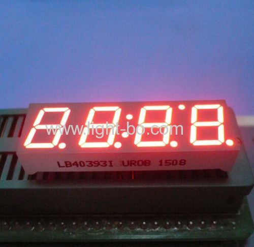 Ultra white 0.39  common cathode 4 digit 7 segment led clock display for home appliances