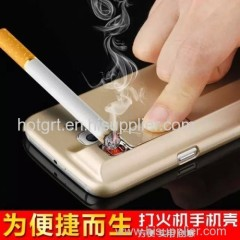 2015 hot Rechargeable Cigarette USB Lighter Smoking Cases for Samsung S6./S6 Edge Lighter case for Samsung