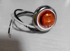 24V Red Clearance Side Marker Indicator Truck Trailer LED Light