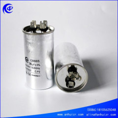 CBB65 air conditioner ac motor run oil capacitor of round type aluminum case