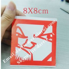 Custom 8x8cm Red Printed Eggshell Sticker.Custom Private Design Destructible Vinyl Eggshell Graffiti Stickers