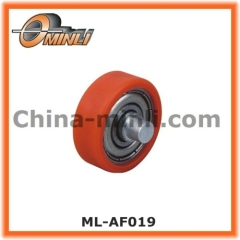 Nylon coated Wheel with customized solid axle