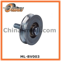 Gate roller wheel with V Groove