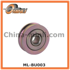 Metal pulley for sliding window and door