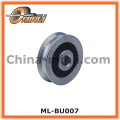 Durable metal pulley for window and door