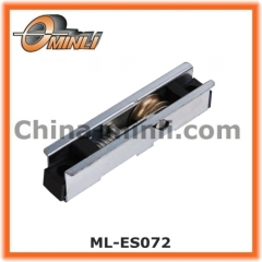 Single metal wheel exterior window roller