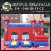 Castle type commercial inflatable bounce slide for sale
