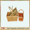 Mini wicker flower baskets