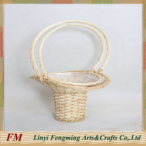 HOT 100%handmade low price wicker flower basket