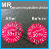 ultra destructible vinyl material custom company logo 2016 security label inspection