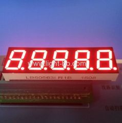 "Super Red 0.56"" 5 Digit 7 segment led display common Anode for Instrument Panel"