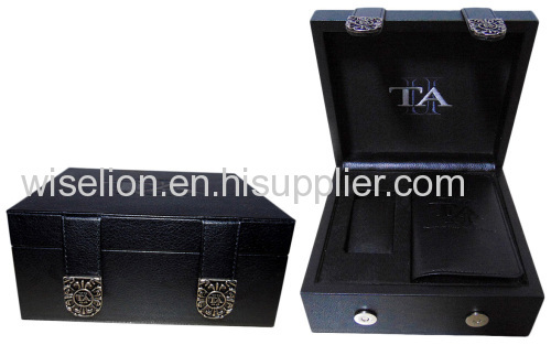custom Leather Watch Display Box Watch Case Watch Package MDF watch box