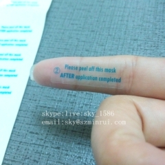Removable Rectangle Wholesale Sticker Printing Strong Adhesive Clear Label