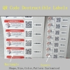 Commercial Use Customized QR Code Sticker Printing Security Warranty Void Paper Sticker