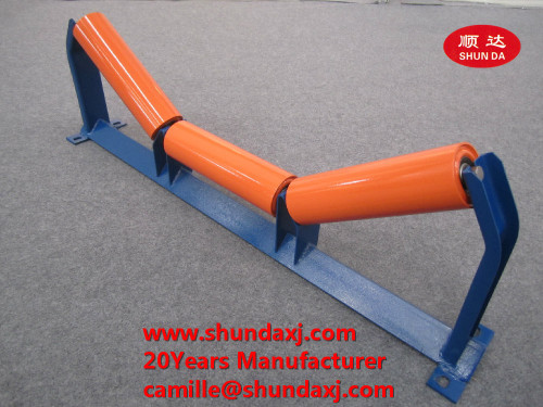 Carrier trough roller for conveyor
