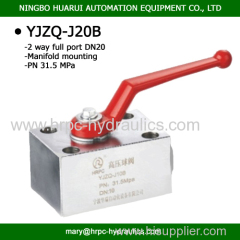 GPK3 ball valve for manifold mounting DN20 high presssure valve