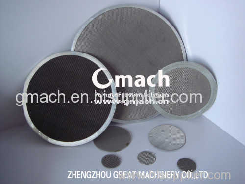 stainless steel wire mesh for plastic extruder filter/screen changer