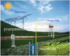 2.2kw solar dc water pump system
