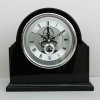 black high gloss finish wooden skeleton clock