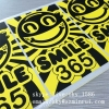 Minrui Smile Face Adhesive Breakable Sticker Paper Label Destructive Eggshell Stickers