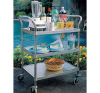 Mobile stainless steel kitchen food moving utility hotel hand trolley