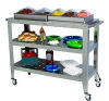Food service mobile stainless steel hand trolley