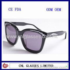 Christmas gift designers acetate sunglasses wholesale eyewear with free print logo