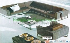 Rattan sectional sofa set furniture supplier from China