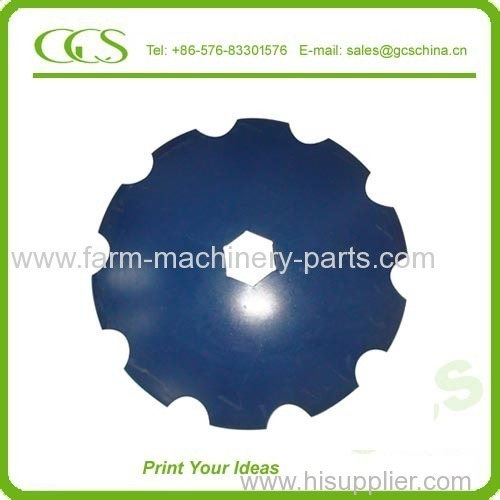 High carbon steel Boron steel Round Notched Flat plough disc 16