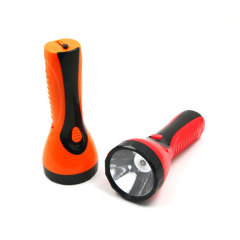 Plastic 1W Rechargeable LED Flashlight
