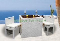 White color rattan chair bar stools furniture set