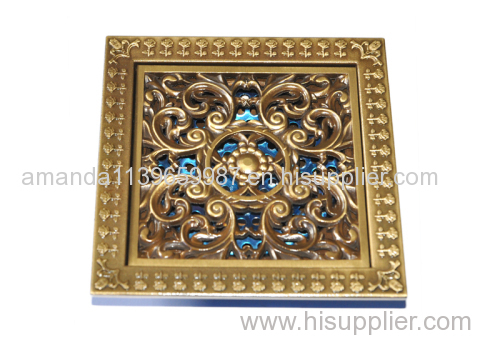 Deodorization style Bathroom Strainer 100*100mm brass Floor Drain manufacturer good performance