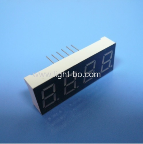 Common Anode super green 0.4  4 digit 7 segment led display for instrument panels
