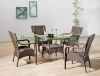 Home rattan table chair set furniture wicker table and chair