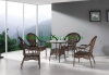 Livingroom rattan table chairs wicker table set