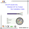 SF/UTP double fully Shielded Cat 5e Twisted Pair Installation cable