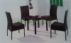 Rattan table chairs for livingroom patio rattan table set