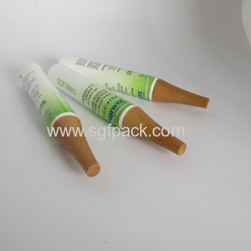 50ml PE tube with bamboo cap35 diam 40diam cap 25mm diam bamboo cap cosmetic tube cap
