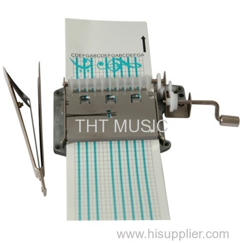 30 NOTE PAPER STRIP HAND CRANK MUSIC BOX MECHANISM