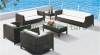 Rattan wicker garden sofa set furniture suppliers outdoor sofas