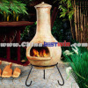 OUTDOOR ANTIQUE CHIMNEY BBQ GRILL
