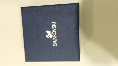 Swarovski blue textured paper cover crystal gift box printing and binding