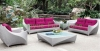 Rattan wicker patio sofa set furniture solutions